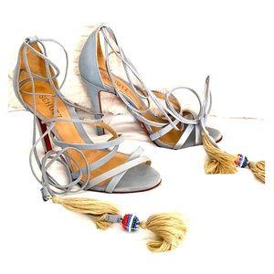 SCHUTZ Tie Up Ankle High Heel Sandal